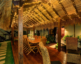 Bali Hut night lights ZBR